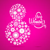 March 8 greeting card. Women`s Day Stock Photos