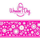 March 8 greeting card. Women`s Day Royalty Free Stock Photography