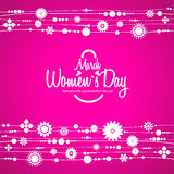 March 8 greeting card. Women`s Day Royalty Free Stock Photo
