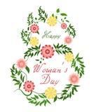 March 8. Happy Women Day. Vector spring holiday illustration vector illustration