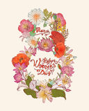 8 march. Happy Women`s Day! Royalty Free Stock Images