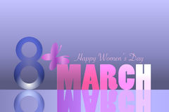 8 March happy women`s day illustration. 8 March women`s day composition royalty free illustration