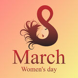 8 March. Happy Women`s Day. Trendy Design Template. Vector illustration. holiday background. Royalty Free Stock Photo