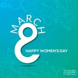 8 march Happy Women\'s day typographic card with pattern backgrou. Nd. For web design and application interface, also useful for infographics. Vector Royalty Free Stock Photography