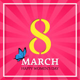 8 March, Happy Women`s Day. Vector background. Royalty Free Stock Photography
