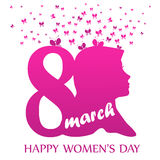 8 March - Happy Women`s Day. Vector EPS Illustration Template royalty free illustration