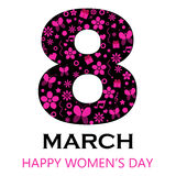 8 March - Happy Women`s Day. Vector EPS Illustration Template Stock Image