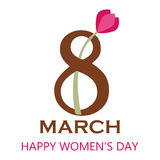 8 March - Happy Women`s Day. Vector EPS Illustration Template Royalty Free Stock Image