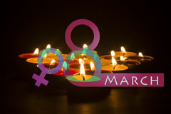 8 March happy women& x27;s day Stock Photography