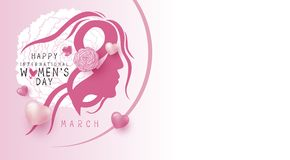 8 march happy womens day design on white background vector. Illustration vector illustration