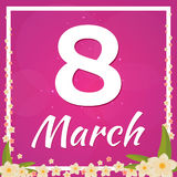8 March. Happy womens day International women s day. Vector flat illustration. Stock Photography