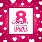 March 8 Happy Womens Day vector greeting card Stock Photo