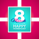 March 8 Happy Womens Day vector greeting card Royalty Free Stock Photo