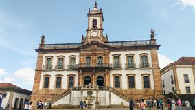 March 25, 2016, Historic city of Ouro Preto, Minas Gerais, Brazil. Old colonial Legislative house. royalty free stock photo