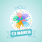 13 March Holi. Calendar for each day on March Stock Photo
