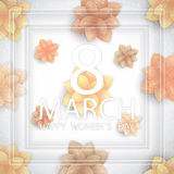 8 March holiday background Stock Photos