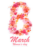 8 March holiday illustration Stock Photos