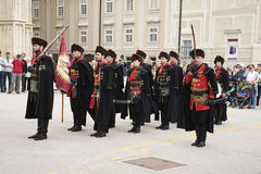 March of Honour Guard in the City of Zagreb, Croatia Stock Photos