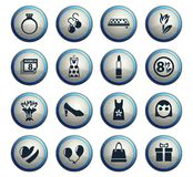 8 march icon set. 8 march web icons for user interface design vector illustration