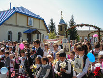 The March of Immortal regiment in the Kaluga region Russia on 9 may 2016. Royalty Free Stock Image