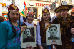 March of Immortal Regiment, timed to 71st anniversary of the Victory in the great Patriotic war. Stock Photography