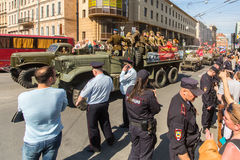 March of Immortal Regiment, timed to 71st anniversary of the Victory in the great Patriotic war. Stock Photo
