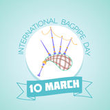 10 March International Bagpipe Day Royalty Free Stock Photo