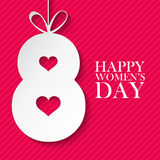 8 March international happy women`s day celebration card. Royalty Free Stock Photo
