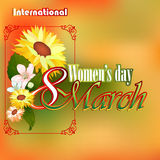 8 March International Woman's day background Royalty Free Stock Photos