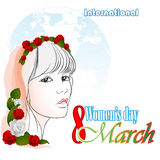 8 March  International Woman's day background Stock Photo