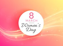 March 8 international woman`s day celebration background. Illustration stock illustration