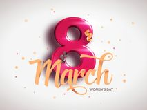 8 March. International Woman`s Day. Happy Mother`s Day. Royalty Free Stock Image