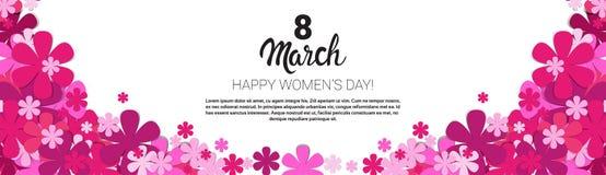 8 March International Women Day Greeting Card Banner. Flat Vector Illustration vector illustration