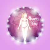 8 March International Women Day Greeting Card Royalty Free Stock Images