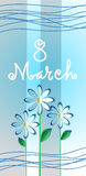 March International Women Day Greeting Card Flower Stock Photography