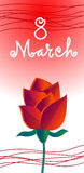 March International Women Day Greeting Card Flower Royalty Free Stock Photos