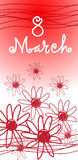 March International Women Day Greeting Card Flower Royalty Free Stock Photo