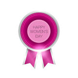 8 March International Women Day Greeting Card Icon Stock Photo