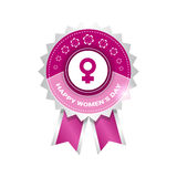 8 March International Women Day Greeting Card Icon Royalty Free Stock Images