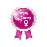 8 March International Women Day Greeting Card Icon. Flat Vector Illustration Royalty Free Stock Photo