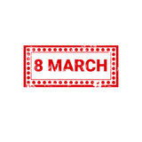 8 March International Women Day Greeting Card Stamp Icon Royalty Free Stock Photos