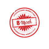8 March International Women Day Greeting Card Stamp Icon Stock Photography