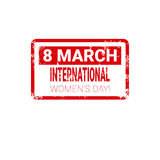 8 March International Women Day Greeting Card Stamp Icon Royalty Free Stock Photography