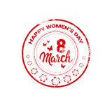 8 March International Women Day Greeting Card Stamp Icon Royalty Free Stock Images