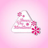 8 March International Women Day Greeting Card Stamp Icon Royalty Free Stock Image