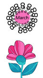 March 8 International Women Day Greeting Card Stock Photos