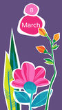 March 8 International Women Day Greeting Card Stock Images