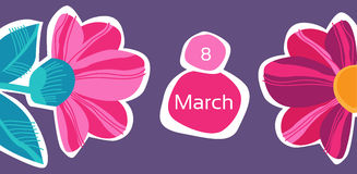 March 8 International Women Day Greeting Card Royalty Free Stock Photo