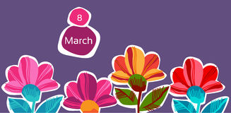 March 8 International Women Day Greeting Card Royalty Free Stock Images