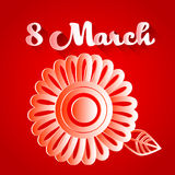 March 8 International Women Day Greeting Card Royalty Free Stock Photos